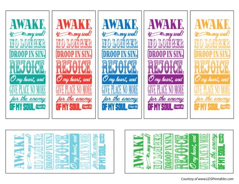 Printable Lds Bookmarks | lds printables july 2012