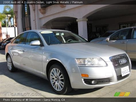 2006 audi a6 4 2 quattro sedan 4d pictures and videos light silver metallic 2006 audi a6 4 2 quattro sedan platinum interior gtcarlot com