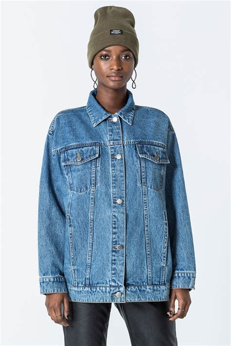 Blue Oversized Denim Jacket 1 oversized blue denim jacket luella rockerfella