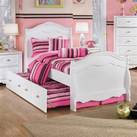 ashley furniture trundle bed signature design by ashley exquisite twin sleigh bed with
