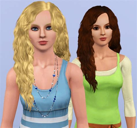 download wavy hair for sims 3 mod the sims southern beauty myos female hair 15