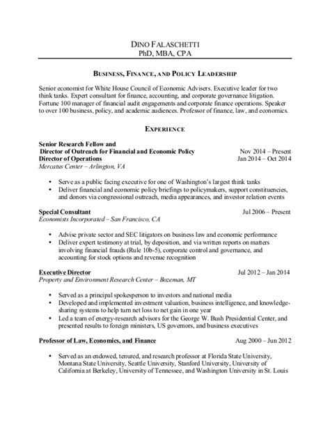 Mba With Honors Resume by Falaschetti 20141129 Bio And Resume