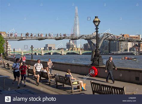 london thames walk thames walk city of london stock photo royalty free
