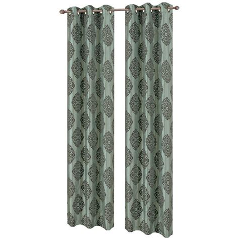 suzani print curtains window elements suzani flocked faux silk 84 in l grommet