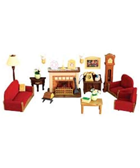 sylvanian families luxury living room set settees