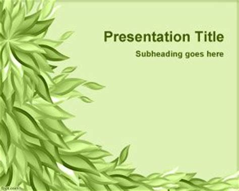 plants themes for powerpoint 2007 free download green leaves powerpoint template