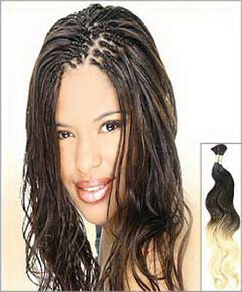 long braids with human hair long micro braids short hairstyle 2013