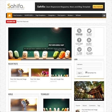 sahifa theme color 45 best wordpress themes want high quality
