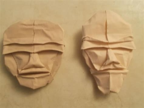 Why Was Origami Created - origami faces created by unknown folded by me by