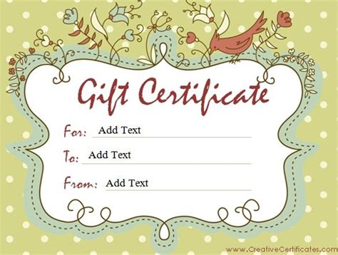 customizable gift card template gift certificate template 42 exles in pdf word in
