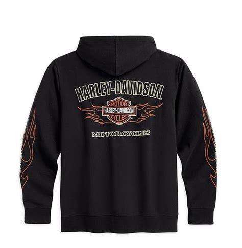 Hoodie Harley Davidson Abu harley davidson flames lightweight hoodie hoody 99001 16vm size 2xl 50 quot 52 quot ebay