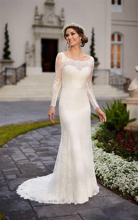 traditional wedding dress  lace satin stella york