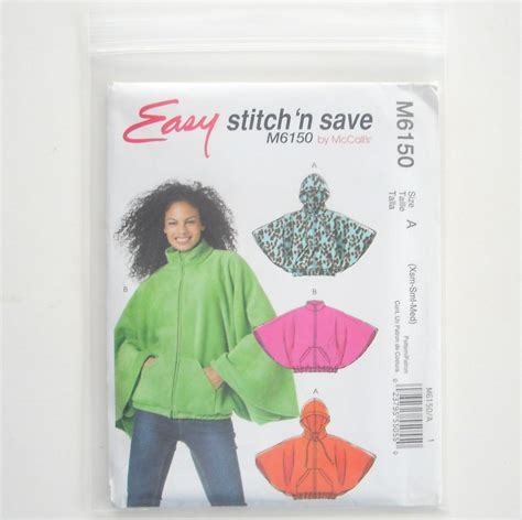 Hem N Gamis mccalls stitch n save 2010 misses capelets sewing pattern m6150