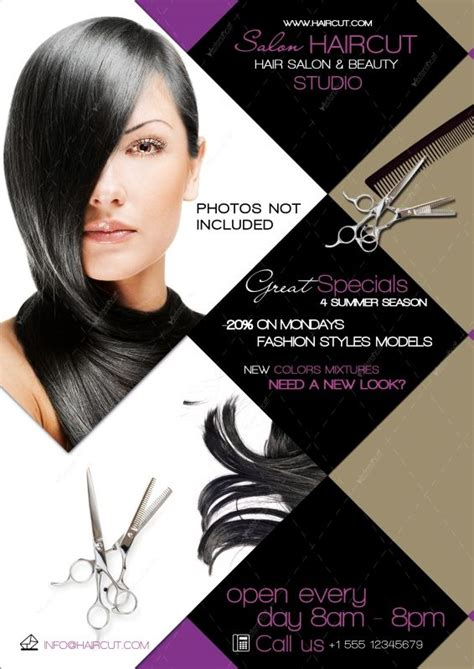 graphic file 13513 hair salon flyer psd clase de corte 2