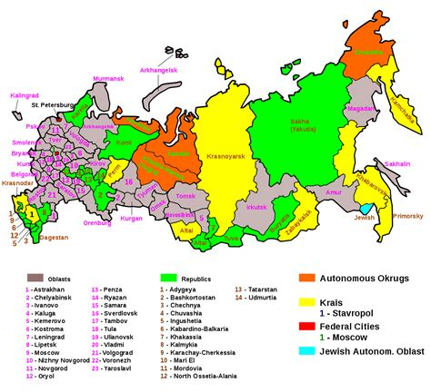 russia map by region federal subjects of russia 1123x1024 mapporn