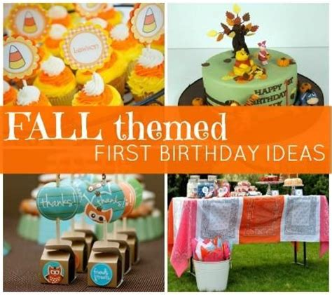 party themes for the fall fall themed first birthday party baby ideas pinterest