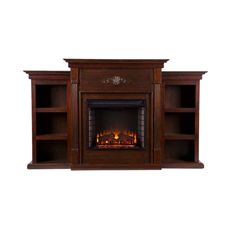 electric fireplace with bookcases 70 25 quot martin fredricksburg electric fireplace w