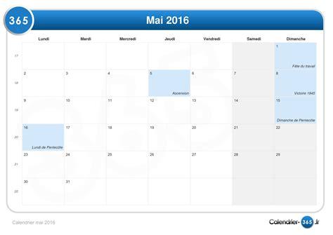 Calendrier 8 Mai Calendrier Mai 2016