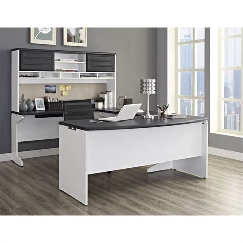office desk configuration ideas u configuration office set in white and gray 9347296