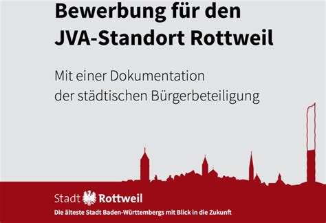 Deckblatt Bewerbung Jva Gr 252 Ne Ov Rottweil Zimmern Justizvollzugsanstalt Jva