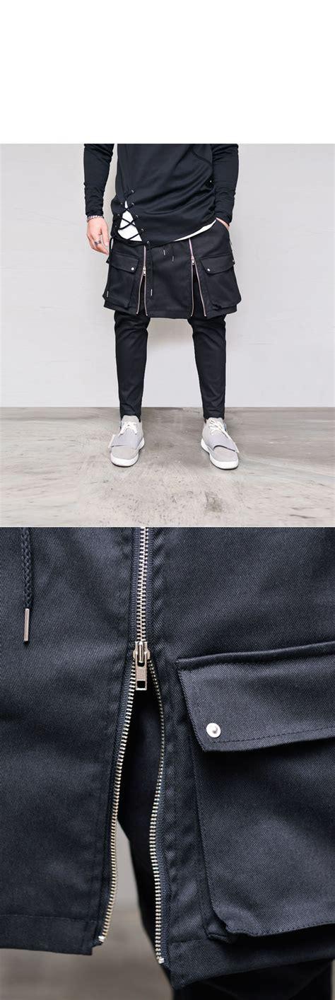 Sweater Hoodie Zipper Urbex Import Quality Yomerch Must gladiator zipper cargo wrap skirt layered mens drop baggy sweat by guylook ebay