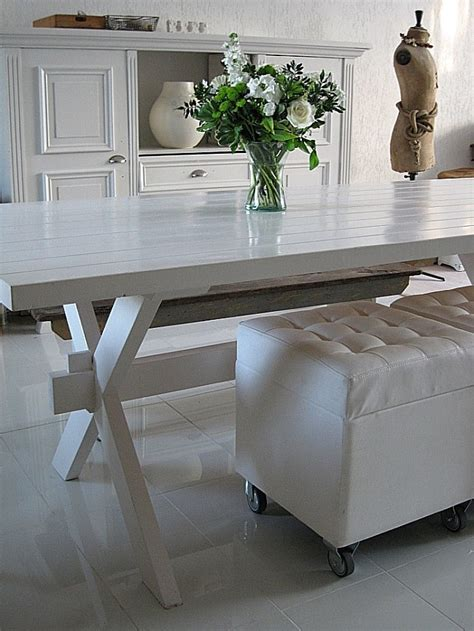 white picnic bench white lacquered picnic table outside pinterest