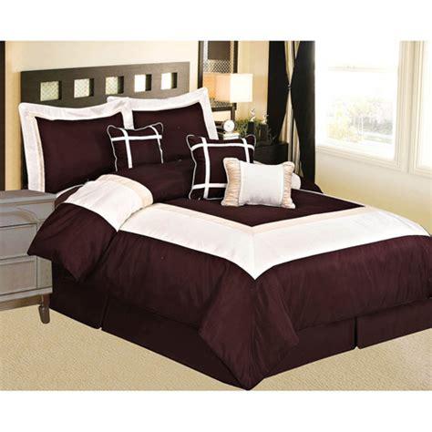 dark brown comforter at home conrad 7 piece comforter set walmart com