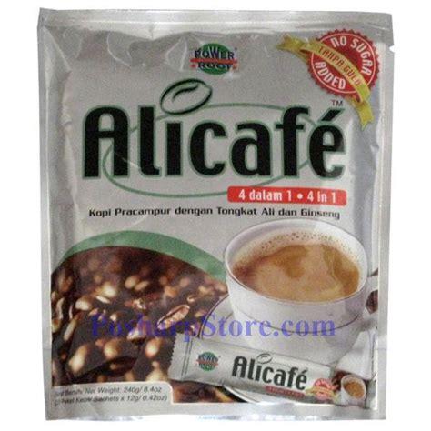 Coffee Tongkat Ali alicafe ginseng coffee no sugar