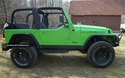 lifted jeep green 2001 jeep wrangler 4 0l neon green lifted 3 day