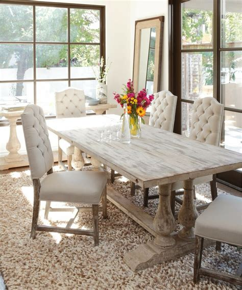 traditional dining table large unique trestle white rustic