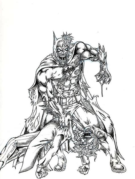 coloring pages of marvel zombies zombie batman defeats a joke by evilhayato on deviantart