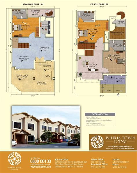 House Addition Floor Plans by Floor Plan Of 125 Square Yards Bahria Homes Bahria Town
