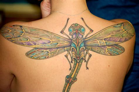 awsome tattoos tatto awesome dragonfly tattoos