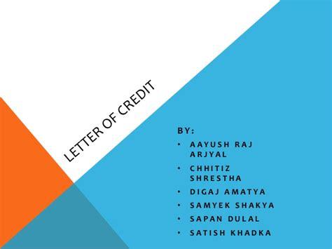 Credit Letter Slideshare Letter Of Credit