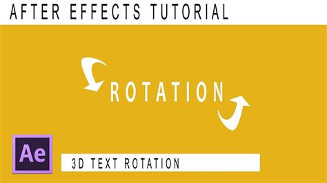 tutorial typography after effects after effects tutorial 3d text rotation kinetic typography