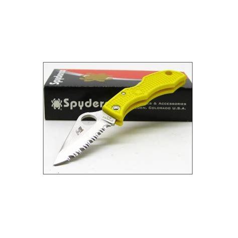 spyderco ladybug salt h1 couteau spyderco yellow ladybug salt h1 serrat sclyls3