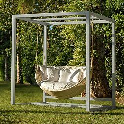 sunbrella woven patio swing point outdoor armadillo wicker hanging lounge chair