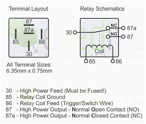 5 pin switch wiring diagram 5 pin relay pinout wiring