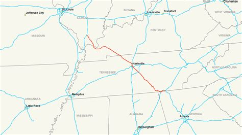 kentucky map interstate interstate 24