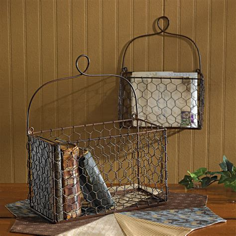 Wire Wall Home Decor by Chicken Wire Wall Baskets