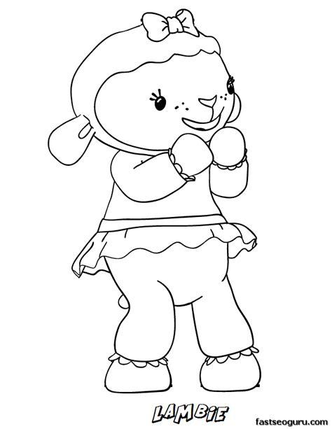 printable lambie the lamb doc mcstuffins coloring pages