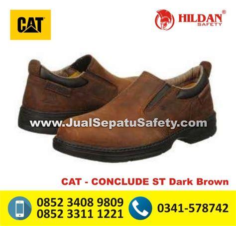 Sepatu Boots Caterpillar Bishop Steel Toe Brown Safety Ujung Besi katalog sepatu caterpillar terbaru original 100
