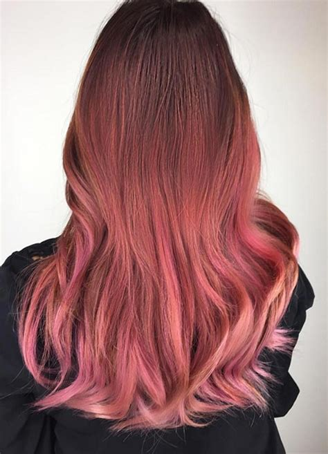 gold hair color 65 rose gold hair color ideas for 2017 rose gold hair