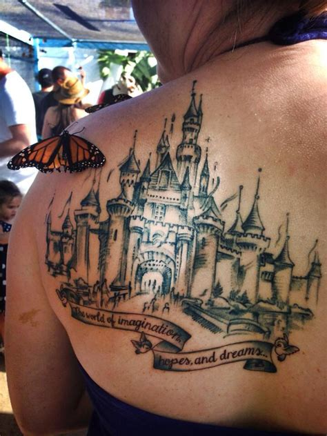 disney castle tattoo the world s catalog of ideas
