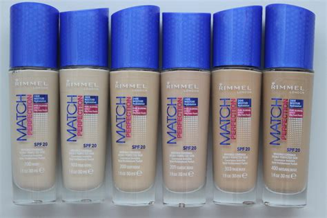 Rimmel Match Perfection rimmel match perfection foundation review before after