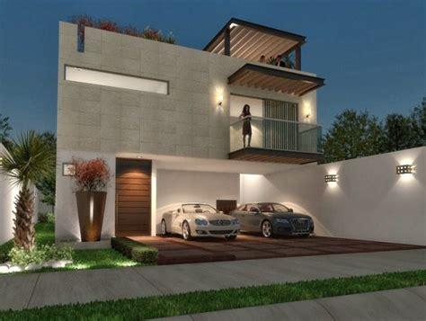 cocheras techadas construccion de fachadas de casas part 7