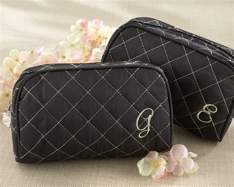 Quilted Makeup Bags by Quot Cosmetic Couture Quot Quilted Monogrammed Make Up Bag