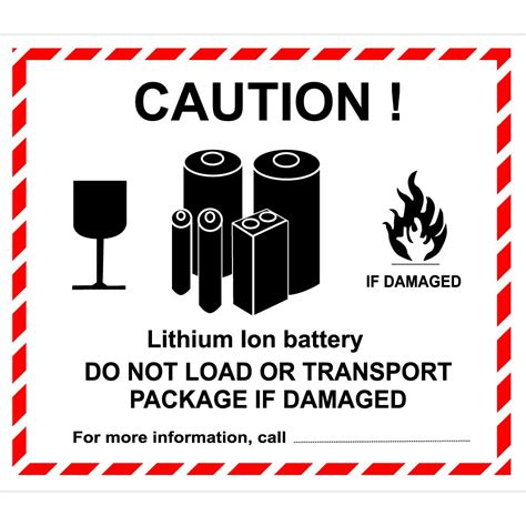 Lithium Label Made By Creative Label Lithium Ion Battery Label Template