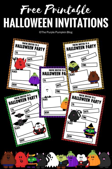 free printable halloween invitations uk free printable cute halloween party invitations