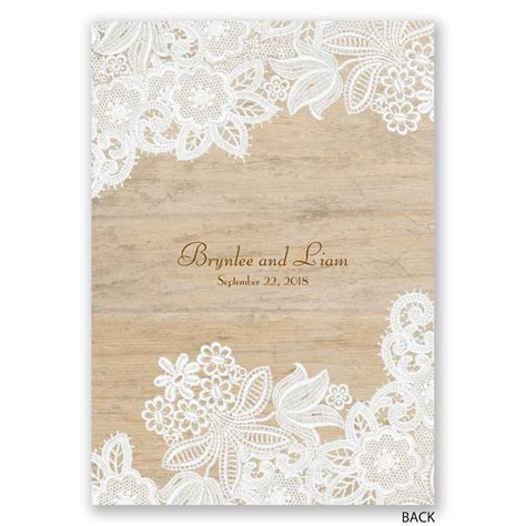 Wedding Invitations With Lace wood and lace invitation invitations by